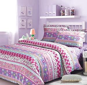 Cover set purple girls bedding kids bedding full size home amp kitchen