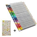 Arespark 色鉛筆 72色セット 子供/大人の塗り絵用 文具 お絵描き イラスト描き プレゼント向き (72セット)