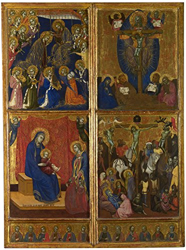 The High Quality Polyster Canvas Of Oil Painting 'Barnaba Da Modena Scenes Of The Virgin The Trinity The Crucifixion ' ,size: 16 X 21 Inch / 41 X 54 Cm ,this Best Price Art Decorative Canvas Prints Is Fit For Powder Room Artwork And Home Artwork And Gifts