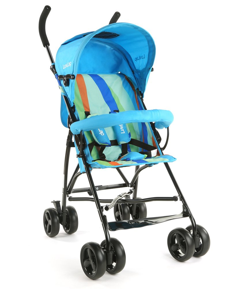 LuvLap Tutti Frutti Baby Stroller Buggy (Light Blue)