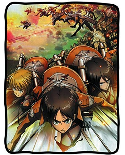 Attack on Titan Cast Fight Fleece Blanket (Aot Merchandise compare prices)
