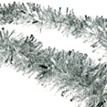 2m (6.5 Ft) Christmas Tinsel Tree Dec...