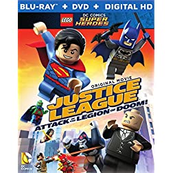 LEGO DC Super Heroes: Justice League: Attack of the Legion of Doom!(Blu-Ray + DVD + Digital HD UltraViolet Combo... [Blu-ray]
