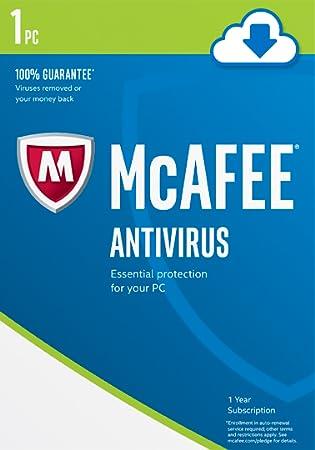 McAfee 2017 AntiVirus 1 PC [Online Code]
