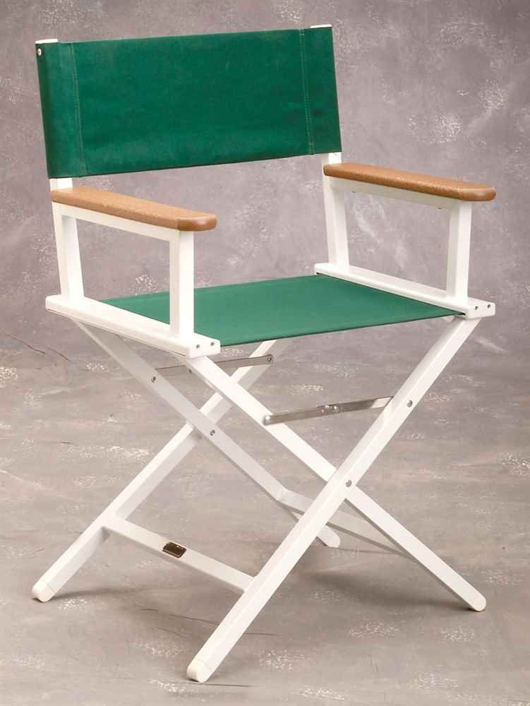 Aluminum Directors Chair in Forest Green sutton studio womens embellished cashmere tunic