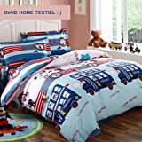 DIAIDI Home Textile,Kids Cartoon Bedding Set,Monkey Bedding Set,Twin/Full,3/4Pcs