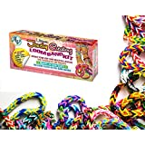 N!ew Loom Band Kit for Girls! Crystal-Like-Charms-Gem-Like Charms-Glow in the Dark Bands-High Quality Loom Board, Hook & Latex Free Rubber Bands-Over 600 Multicolored Bands-Great for Jewelry Making, Team Sports, Arts & Crafts and More! Super Stylish
