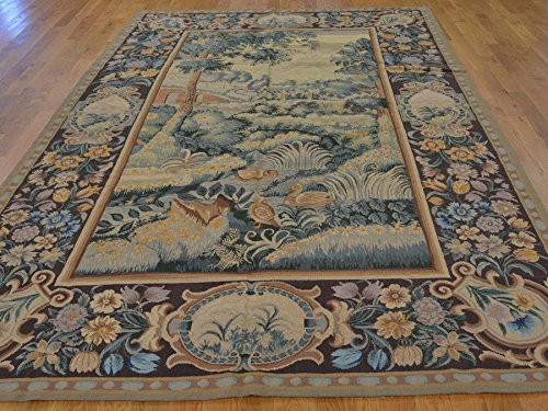 S&H Rugs sh21349 6 x 10 ft. European Style Tapestry Wall Hanging Needle Point Handmade Rug