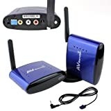 iKKEGOL 5.8GHz AV STB TV 200M Wireless Transmitter Receiver Sender with IR Remote Extender PAT 530 for Controlling DVD / Set-Top Box from Another Room Watch Digital / Satellite TV anywhere in your home