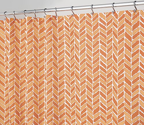 Abstract Chevron Fabric Shower Curtain