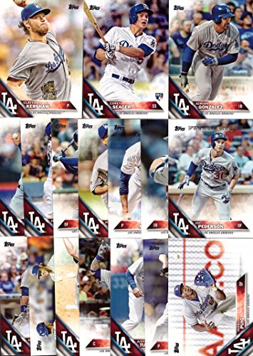 2016-topps-series-1-los-angeles-dodgers-baseball-card-team-set-17-card-set-includes-clayton-kershaw-