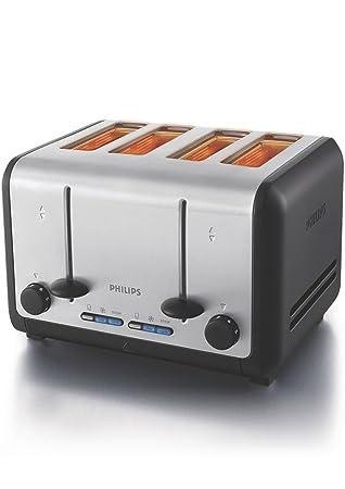 Philips HD2647/20 1800-Watt 4 Slice Toaster (Metal/Black)