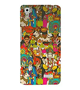 printtech Indian Gods Culture Back Case Cover for Oppo R7