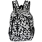 World Traveler Multipurpose Backpack 16-Inch, Black Trim Damask, One Size
