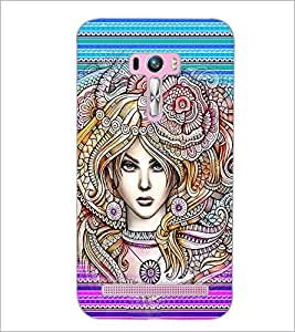 PrintDhaba Fantasy Girl D-6005 Back Case Cover for ASUS ZENFONE SELFIE ZD551KL (Multi-Coloured)