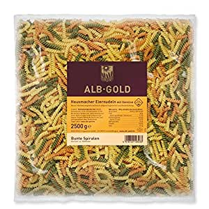 AlbGold Bunte Nudeln (Fusilli), 1er Pack (1 x 2.5 kg Packung): Amazon