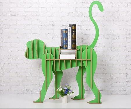 Scaffale creativo della scaffale della scatola di DZW scaffale creativo degli scaffali degli animali mobili domestici 88 * 28 * 110cm , green, Legno da costruire