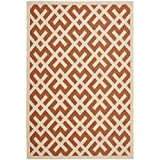 """Safavieh Courtyard Collection CY6915-231 Terracotta and Bone Area Rug, 5 feet 3 inches by 7 feet 7 inches (5'3"""" x 7'7"""")"""