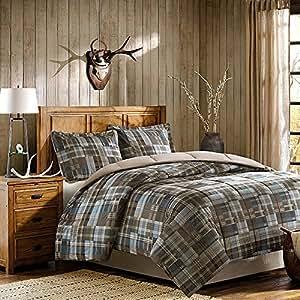 Woolrich White River Down Alt Mini Comforter Set, Twin, Multicolor