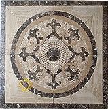 Floor Marble Medallion Mosaic Tile 36 x 36 Inch.