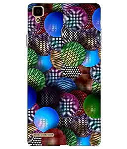 Make My Print Abstract Balls Printed Colorful soft Back Cover For Oppo F1 Selfie