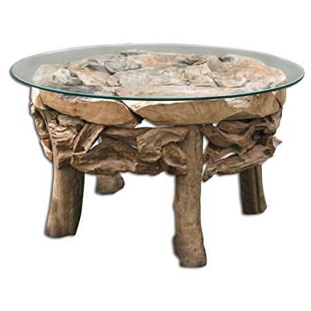 Luxe Driftwood Round Coffee Table