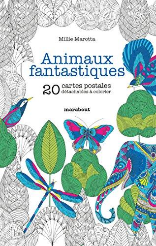Animaux fantastiques - 20 cartes postales à colorier