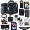 Canon EOS 6D Digital SLR Camera Body with EF 24-105mm L IS USM Lens with 64GB Card + 2 Batteries + Charger + Sling Strap + 3 Filters + Remote Kit