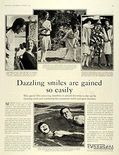 1928-ad-pepsodent-toothpaste-dental-dentist-c-e-allen-original-print-ad