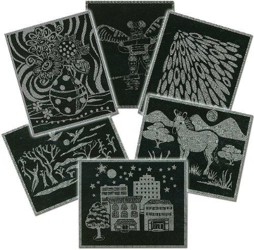 Scratch Art Paper - Pattern Assortment w/stylus (12 sheets) SKU-PAS1124191