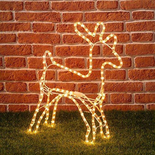 Renna di tubo luminoso strange things - Renna natalizia luminosa per giardino ...