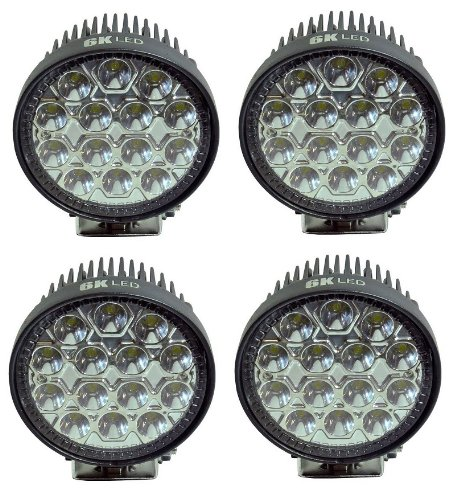 6K Led 42W Spot Work Light Tractor 4.5Inch 12-24Volt Atv 4X4 Truck Big-Rig Extra Lighting Airboat Fishing Boat