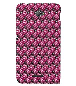 EPICCASE shiny hearts Mobile Back Case Cover For Sony Xperia E4 (Designer Case)