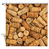 CafePress - Wine Corks 1 Shower Curtain - Decorative Fabric Shower Curtain