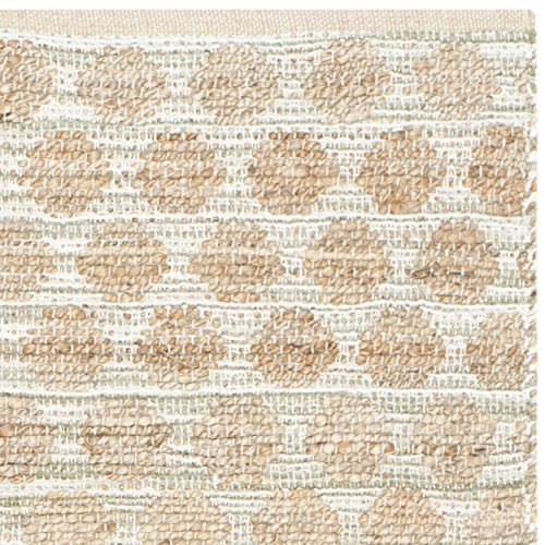 Safavieh Cape Cod Collection CAP820D Handmade Grey and Natural Jute Area Rug, 4 feet by 6 feet (4' x 6')