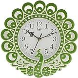Decorative Peacock Wall Clock (28 Cm X 5 Cm X 28 Cm, Green)