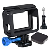 SIOTI Frame Mount Protective Housing with Lens Cap Cover and Aluminum Alloy Screw for GoPro Hero 6/5 Cameras (Color: Black Frame Mount)