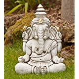 Large Garden Ornament - Ganesh Stone Buddha Statue