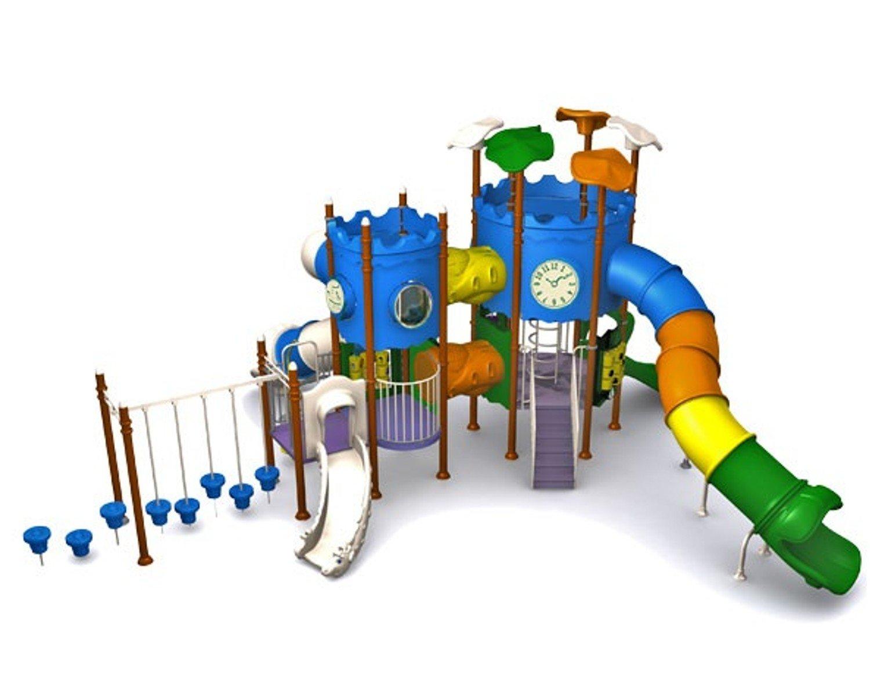 Spielanlage SCHLÖSSCHEN mit Tunnelrutsche - für öffentliche Spielplätze