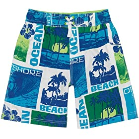 The Children's Place Big-Boys Postcard Swim Trunks