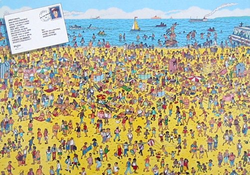 Cheap Great American Where's Waldo? Jigsaw Puzzle-On The Beach (B002WFWCZ2)