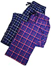 Hanes  Mens 2 Pack Flannel Lounge Pant