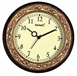 SONIC Brown round Plastic Analogue Quartz
