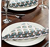 @home by Nilkamal 16'x16' Perky Radiance Table Napkin, Multi