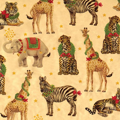 Entertaining with Caspari Continuous Roll of Gift Wrapping Paper, Wild Christmas Gold Foil, 8-Feet, 1-Roll 0