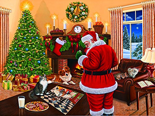 SunsOut Santa Solves The Puzzle 1000 Piece Jigsaw Puzzle