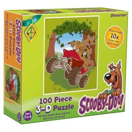 Cheap Pressman Scooby-Doo! 100 Piece Lenticular 3D Jigsaw Puzzle – Scooby on a 4 Wheeler (B0052A1SL8)