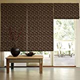 Presto Bazaar Brown Jacquard Window Blind (96 Inch X 44 Inch)