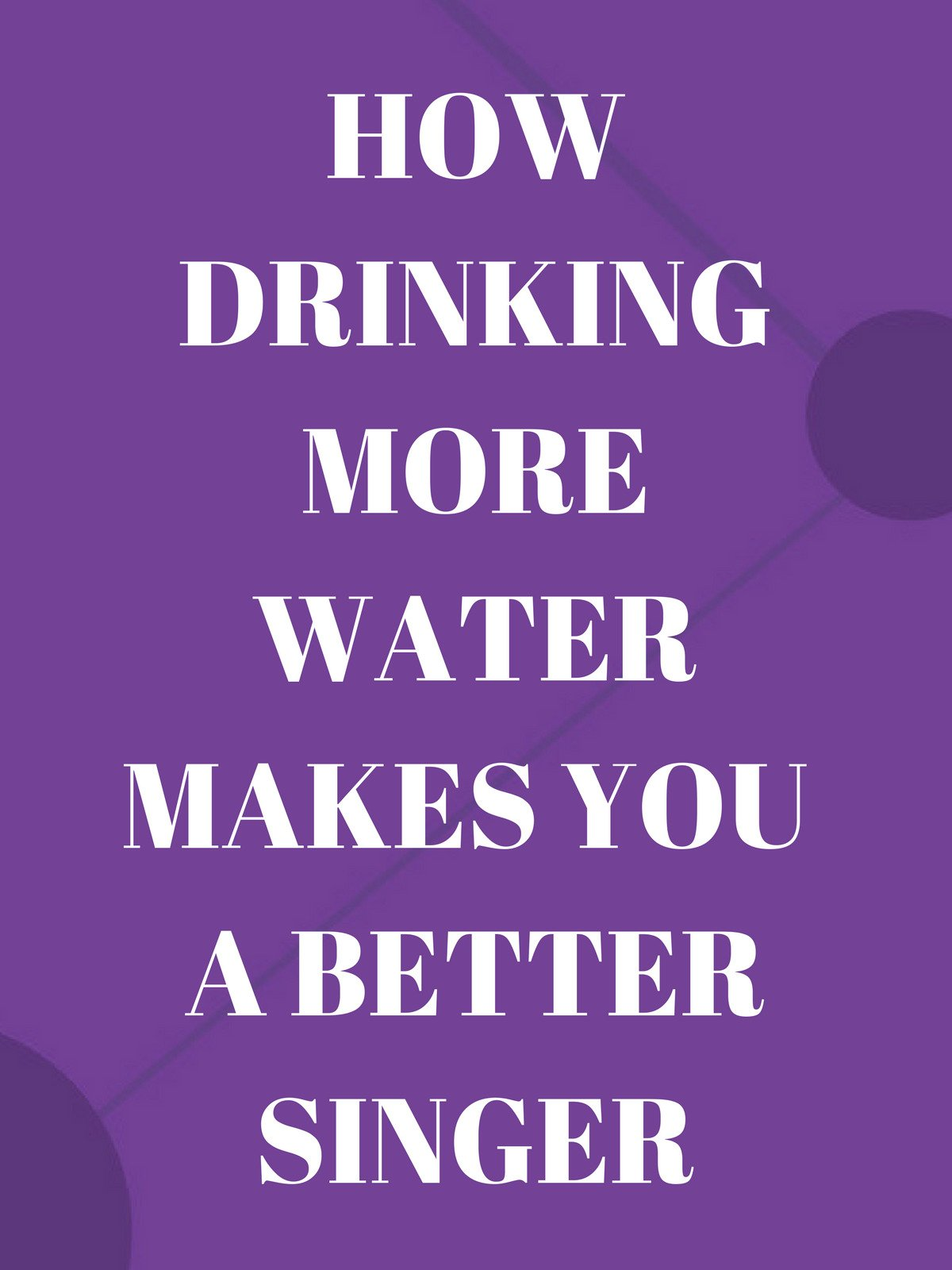 How Drinking More Water Can Make You A Better Singer on Amazon Prime Video UK