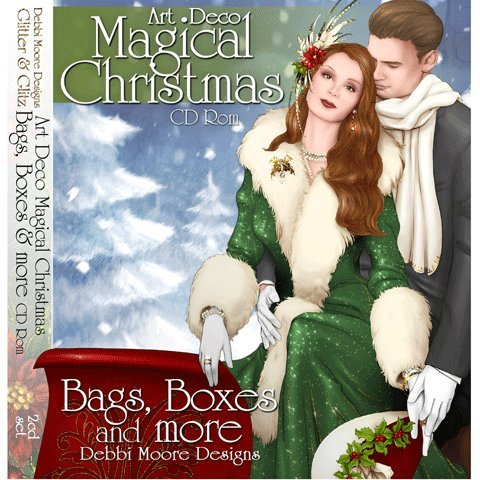 Debbi Moore Designs Art Deco Magical Christmas Bags & Boxes 2 CD Rom (291103)